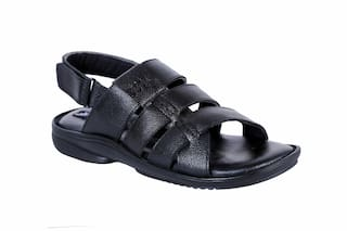 aa5f777db860 Buy SHOEBOOK Men Black Sandals   Floaters Online at Low Prices in ...