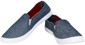 Shoefly Women Blue 619 Loafers Shoes