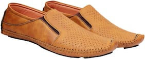SHOES ARK Men Tan Loafers
