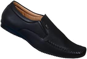 SHOES KINGDOM Men Black Slip-On Formal Shoes - FY737_BLACK