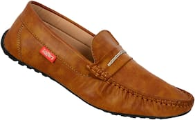 SHOES KINGDOM Men Tan Loafers