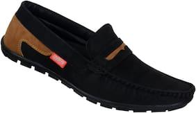 SHOES KINGDOM Men Black Loafers - LB792_BLACK