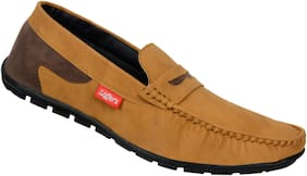 SHOES KINGDOM Men Tan Loafers