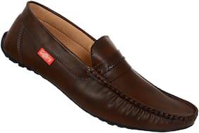 SHOES KINGDOM Men Brown Loafers