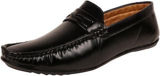 SHOES KINGDOM Men Black Loafers - LB726_BLACK