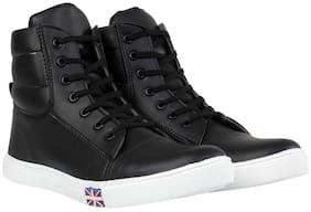 Style Height Men Black Sneakers