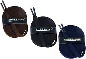 Shoeshine Flat Shoelace (Pack of 3 Pair) Sport Athletic Shoe Laces Unisex