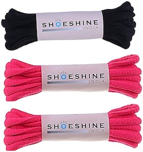 Shoeshine Round Oval ShoeLace 90cm (Pack of 3 Pair)