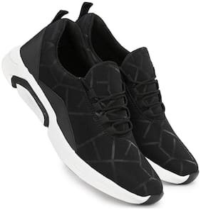 Shovoc Men's Black Sports Shoes