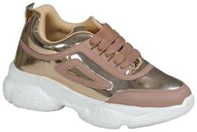 SIM STYLE Women Peach Sneakers