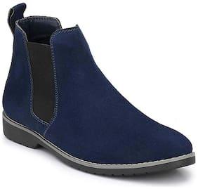 SIM STYLE Men Blue Chelsea Boots - CHELSEABLUE - CHELSEABLUE