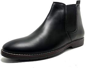 SIM STYLE Men Black Chelsea Boots