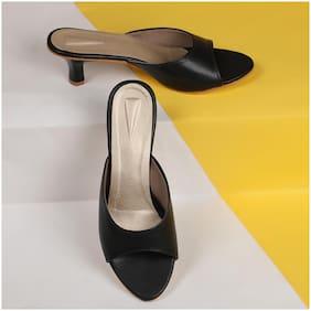 Sindhi Footwear Women Black Sandals
