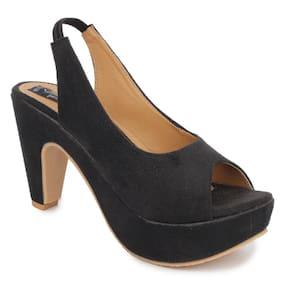 Sindhi Footwear Black Heels