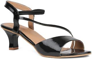 Sindhi Footwear Women Black Heeled Sandals