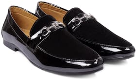 SINGING BIRD Unisex Black Loafers