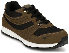 Sir Corbett Men Running Shoes ( Brown )