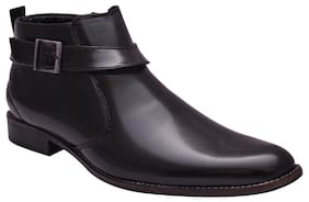 Sir Corbett Black Side Chain Formal Boots