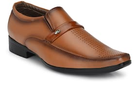 Sir Corbett Men Tan Slip-On Formal Shoes - 1806-TAN - 1806