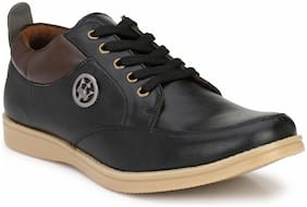 Sir Corbett Men's Black Synthetic Casual Sneakers