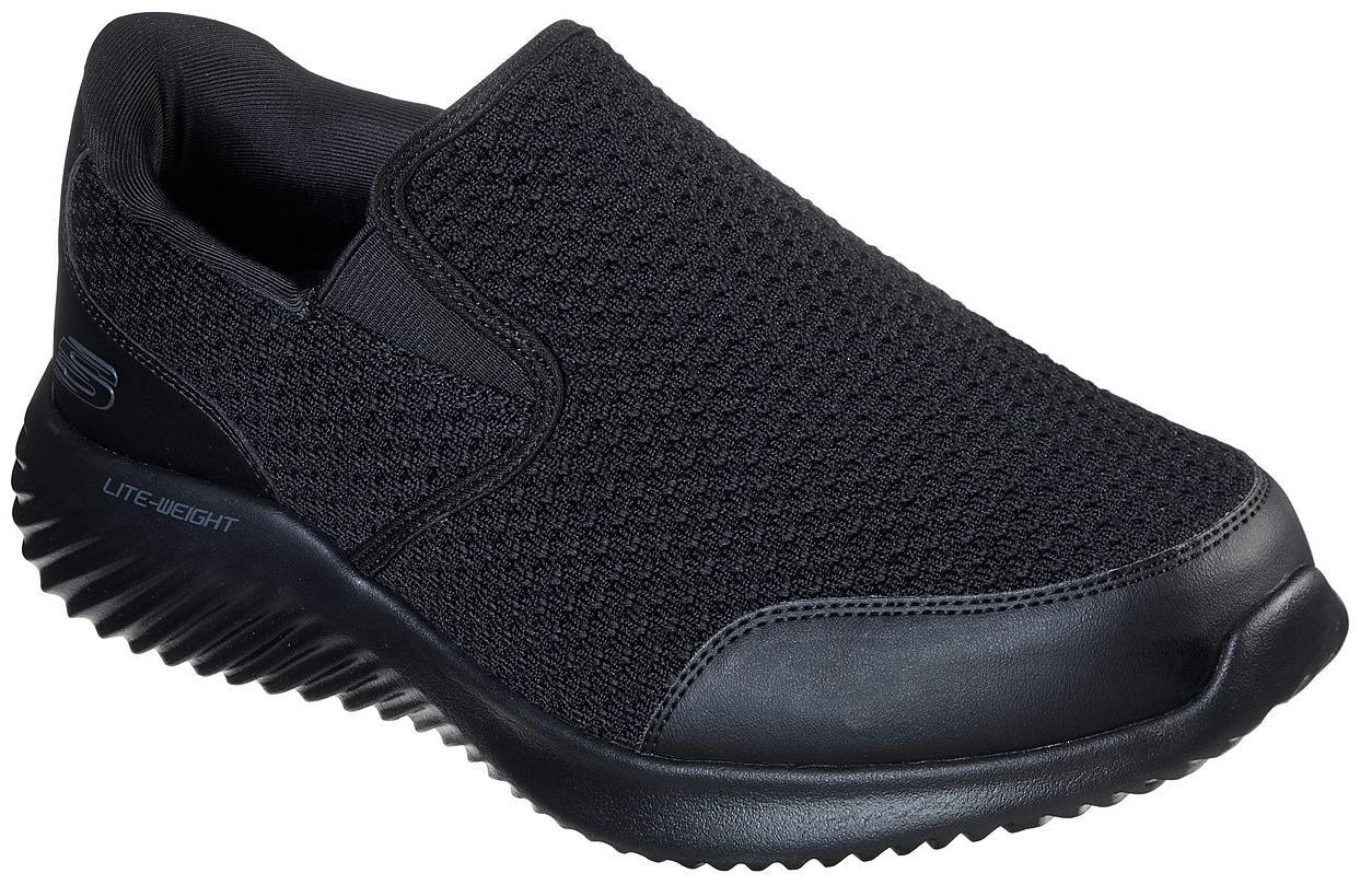 skechers all black sneakers