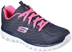 Skechers Women Running Shoes ( Navy Blue )