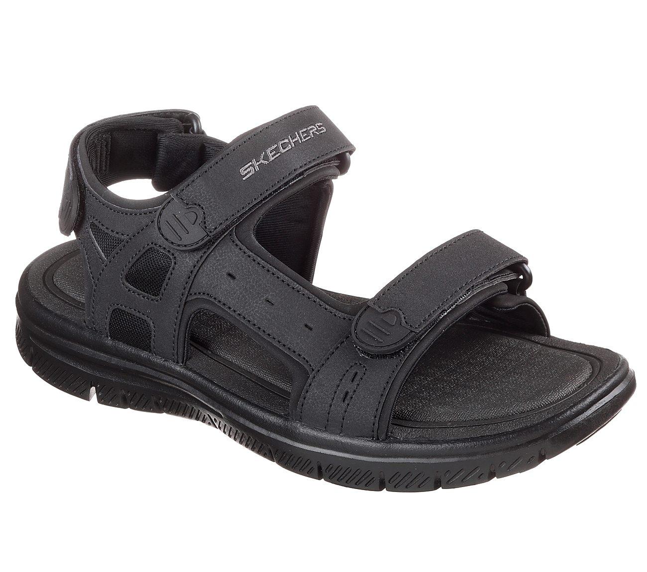 fd5d0d39b9ab5c Buy Skechers Men s Flex Advantage S - Upwell Black Sandal Online at ...