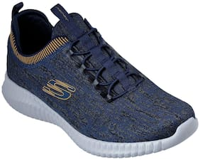 Skechers Men Elite Flex Hartnell Running Shoes ( Navy Blue )