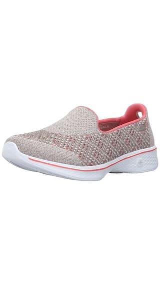 45b74fe37cb3 Skechers Performance Women s Go Walk 4 Kindle Slip-On Grey Walking Sneakers