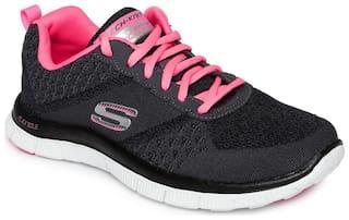 Skechers Women Flex Appeal Running Shoes ( Black )