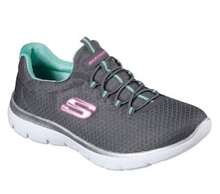 aab418bf13d Buy Skechers Women Grey Walking Shoes Online at Low Prices in India ...