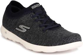 Skechers Women GO WALK LITE - FLORET Running Shoes ( Navy Blue )