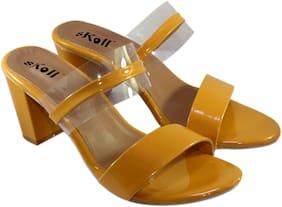 Skoll Women Yellow Heeled Sandals