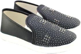 Skoll Women Fabric Emblished Loafers