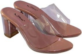Skoll Women Pink Heeled Sandals
