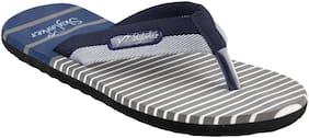 SKYLARKER Men Grey & Blue Outdoor slippers - Dbl-stp2