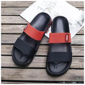 Enso Men Black & Red Outdoor slippers