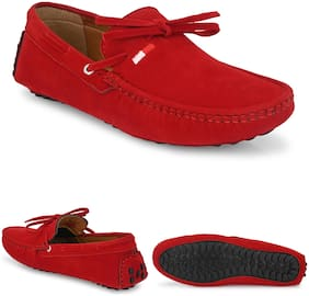 Loafers For Unisex ( Red )
