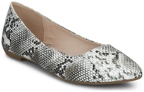 Snake PU Thin Bow Belly Flats