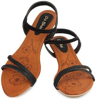 Do Bhai Women Brown Peep Toes