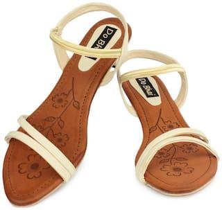 Do Bhai Women Red Peep Toes