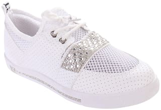 Enso Sneakers Shoes for Women - White and Silver