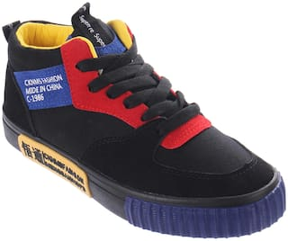 Enso Casual Shoes for Women - Black and Yellow
