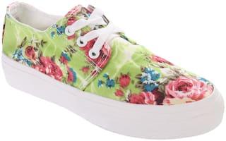 Enso Women Green Sneakers