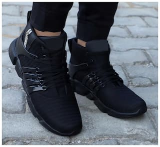 Reluxtion High Top Sneakers For Men ( Black )