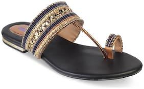 SOLE HEAD Women Blue One toe flats