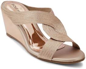 SOLE HEAD Women Gold Sandals