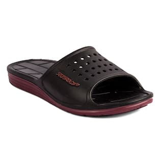 4869a75fee Buy Sole Threads Men Black Slider Online at Low Prices in India ...