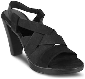 SOLEHEAD Women Black Heeled Sandals -