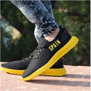SPAIN Men Black Casual Shoes - SPN-BLK-PNT-07
